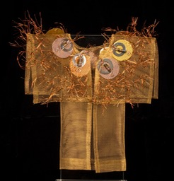 Ballad Kimono, bronze screen embellished with found items.