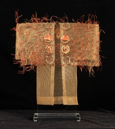 Cosmo Kimono, bronze screen embellished with found items.